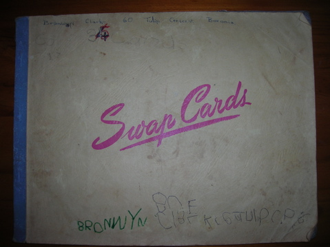 Swap card album circa 1967