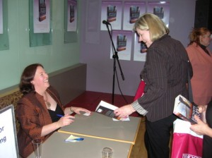 Bronwyn Parry signing \'As Darkness Falls\'