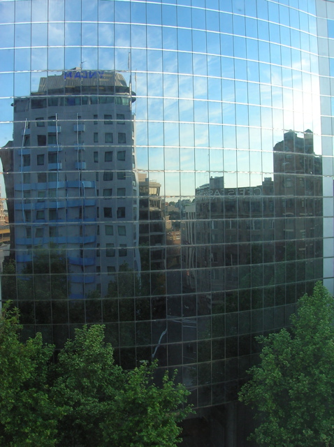 Sydney - reflected buildings