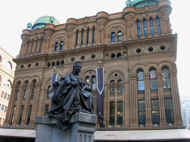 Queen Victoria Building and statue, Sydney