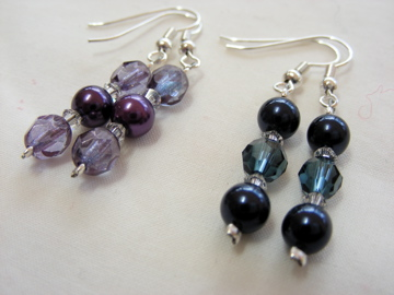 Handmade glas bead earrings