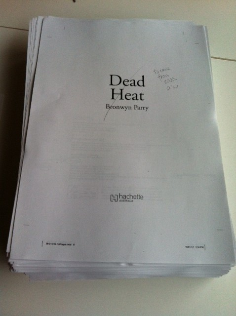 Proof pages for Dead Heat