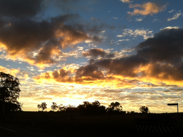 Sunset - near Hillgrove, NSW