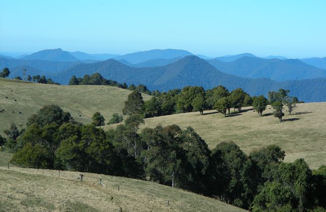 Mountain views near Dorrigo, New South Wales
