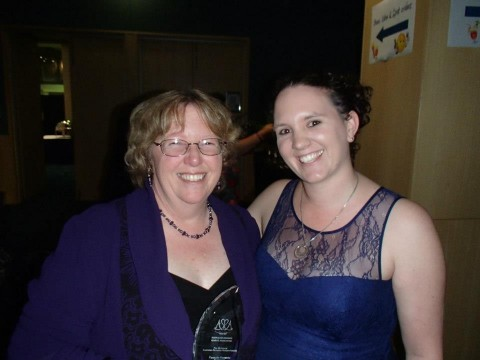 Bronwyn Parry with Jess Fitzpatrick at ARRC2013