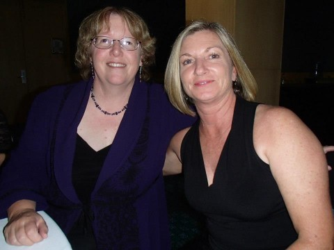 Bronwyn Parry and Helene Young at ARRC2013 Awards dinner