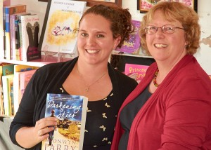 Bronwyn Parry signing Darkenign Skies for Jess Fitzpatrick