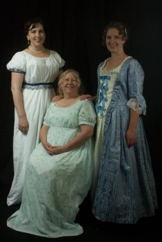 Emily, Bron and Lauren at the Jane Austen Festival
